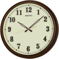 Seiko Analog 10 cm X 8 cm Wall Clock(Brown, With Glass)