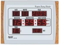 Ajanta Digital Wall Clock(Silver, Brown, With Glass)