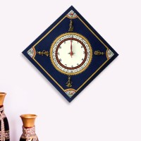 ExclusiveLane Analog Wall Clock(Blue, Without Glass)