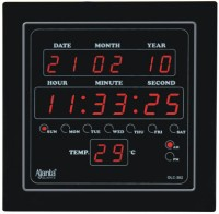 Ajanta Digtal Wall Clock(Black, With Glass)
