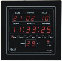 Ajanta Digtal Wall Clock(Black, With Glass)