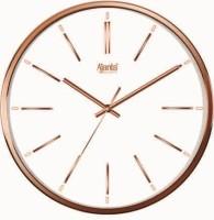 Ajanta Analog Wall Clock(Golden, With Glass)