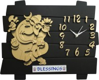 SD Enterprises Analog 30 cm X 35 cm Wall Clock(Black, Without Glass)