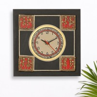 ExclusiveLane Analog Wall Clock(Black, Without Glass)