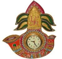 Craftszilla Analog 39 cm X 35 cm Wall Clock(Multicolor, With Glass)