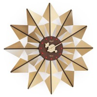 Opal Analog 50 cm X 50 cm Wall Clock(Gold, Without Glass)