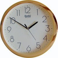 Ajanta Analog Wall Clock(Gold, With Glass)
