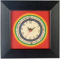 ExclusiveLane Analog Wall Clock(Black, Red, Without Glass)