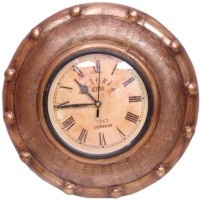 Onlineshoppee Analog Wall Clock(Brown, With Glass)