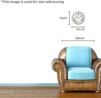 Seiko Analog Wall Clock(Beige, With Glass)