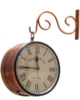 JaipurCrafts Analog 20.32 cm Dia Wall Clock(Multicolor, With Glass)