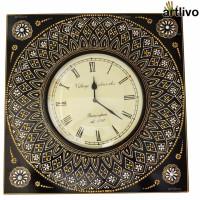 Artlivo Analog 45 cm X 6 cm Wall Clock(Black, With Glass)