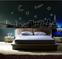 Oren Empower City Dream luminous large wall sticker - Glow in Dark(92 cm X cm 165, Black)