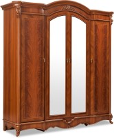 Durian NORMAN/WD Engineered Wood 4 Door Wardrobe(Finish Color - Cherry, Mirror Included)