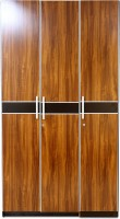 Evok Hamburg Engineered Wood 3 Door Wardrobe(Finish Color - Walnut Brown)