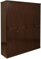 HomeTown Amelia Solid Wood 4 Door Wardrobe(Finish Color - Dark Walnut)