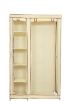 View Novatic Fabric 2 Door Almirah(Finish Color - Cream) Furniture (Novatic)