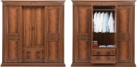 Durian EVERETT/WD Engineered Wood 4 Door Wardrobe(Finish Color - Cherry)