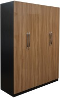 Parin Engineered Wood 4 Door Wardrobe(Finish Color - UV Finish Light Brown)