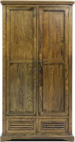 Evok Rivieria Solid Wood 2 Door Wardrobe(Finish Color - Walnut Brown)
