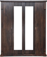 HomeTown �Mondo Engineered Wood 4 Door Wardrobe(Finish Color - Brown)