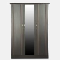 View Godrej Interio Zurina Engineered Wood 3 Door Wardrobe(Finish Color - Wenge, Mirror Included) Furniture (Godrej Interio)