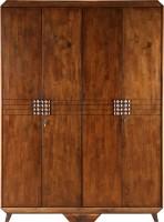 View HomeTown Sterling Engineered Wood 4 Door Wardrobe(Finish Color - Brown) Furniture (HomeTown)