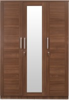 @home by Nilkamal SANSA Engineered Wood 3 Door Wardrobe(Finish Color - Brown, Mirror Included)