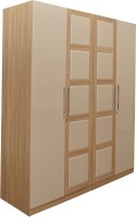 HomeTown Geo Engineered Wood 4 Door Wardrobe(Finish Color - Clear Maple)