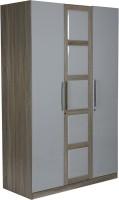 View HomeTown Geo Engineered Wood 3 Door Wardrobe(Finish Color - Beige,Cream) Furniture (HomeTown)