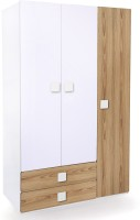 Alex Daisy Universal Engineered Wood 3 Door Wardrobe(Finish Color - Oak & White)