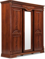 Durian CLARA/WD Engineered Wood 4 Door Wardrobe(Finish Color - Cherry, Mirror Included)