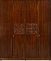 @home by Nilkamal Monalisa Engineered Wood 4 Door Wardrobe(Finish Color - Walnut)