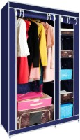 View Novatic Carbon Steel Collapsible Wardrobe(Finish Color - Dark Blue) Furniture (Novatic)