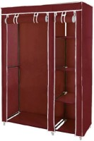 View Novatic Carbon Steel Collapsible Wardrobe(Finish Color - Maroon) Furniture (Novatic)