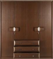 HomeTown Cambry Engineered Wood 4 Door Wardrobe(Finish Color - Walnut)