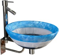 Lucky Round Painted Blue SRR03 Table Top Basin(Round Painted Blue)