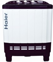 Haier 6.5 kg Semi Automatic Top Load Washing Machine White, Purple(HTW65-113S)