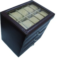 Essart Watch Box(Brown, Holds 40 Watches)