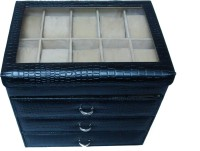 Essart Watch Box(Black, Holds 40 Watches)