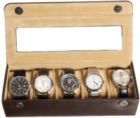 Essart Case 37 Watch Box(Dark Brown Holds 5 Watches)