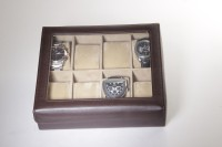 Essart Watch Box(Dark Brown, Holds 8 Watches)