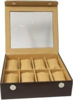 Essart Case 29 Watch Box(Brown, Holds 8 Watches)
