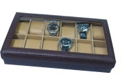 Essart Protection Cases for watches Watch Box(Brown Holds 12 Watches)