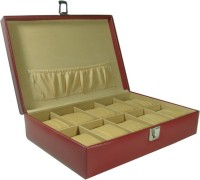Essart Protection Case Watch Box(Cherry, Holds 10 Watches)