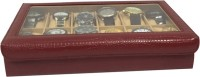 Essart Case 4 Watch Box(Maroon Holds 12 Watches)