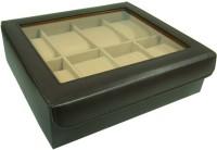 Essart Protection Watch Box(Dark Brown, Holds 8 Watches)