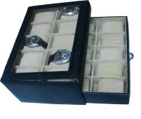 Essart Watch Box(Black, Holds 20 Watches)