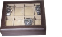Essart Protection Cases For Watch Box(Brown, Holds 8 Watches)