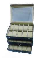 Essart Watch Box(Black, Holds 30 Watches)